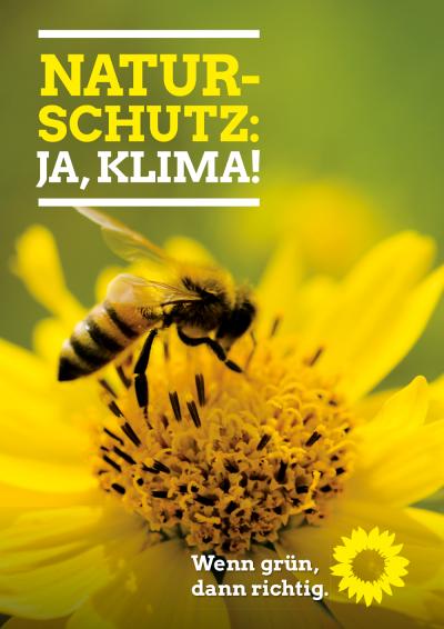Naturschutz, ja Klima! Themenplakat Naturschutz