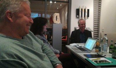 Der Fraktionsvorsitzende Michael Ebbecke mit der Geschäftsführerin Anke Kracht-Appold und dem Kreistagsabgeordneten Tom Jürgens.